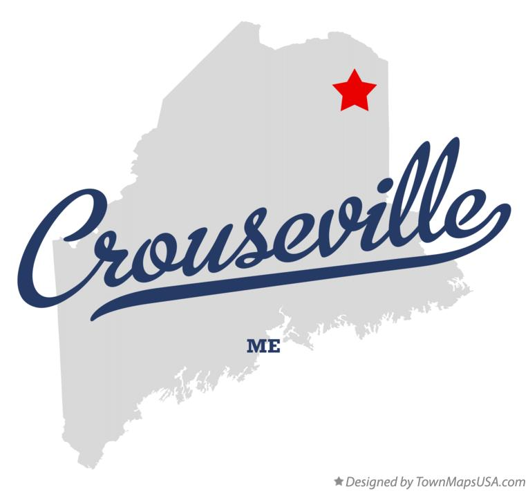 Map of Crouseville Maine ME