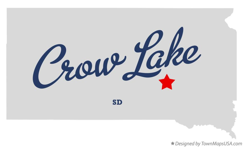 Map of Crow Lake South Dakota SD