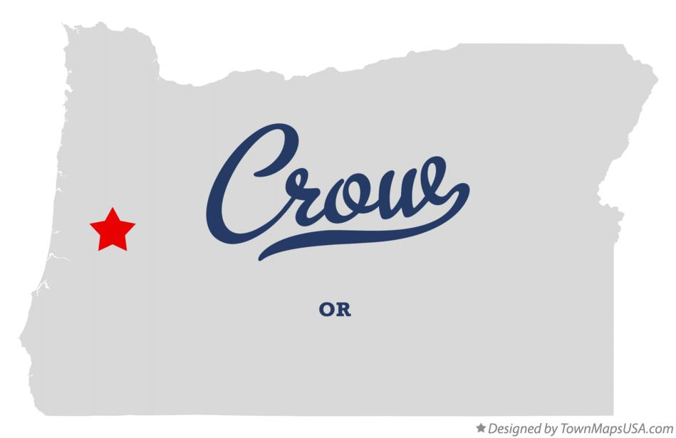 Map of Crow Oregon OR