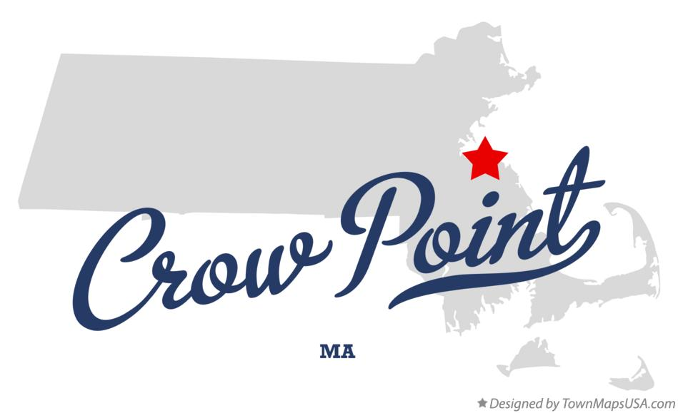 Map of Crow Point Massachusetts MA