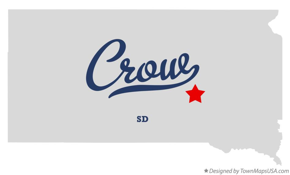 Map of Crow South Dakota SD