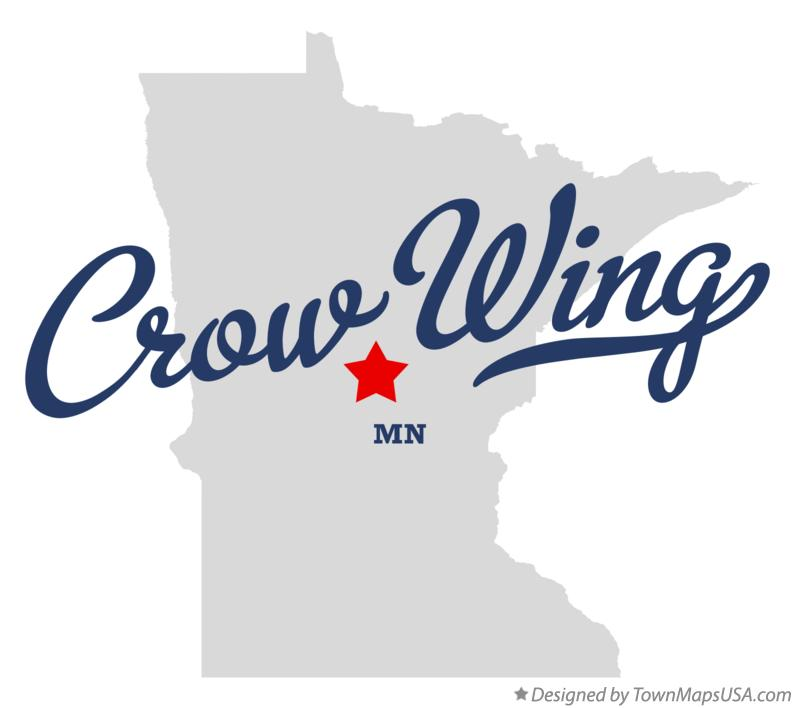 Map of Crow Wing Minnesota MN