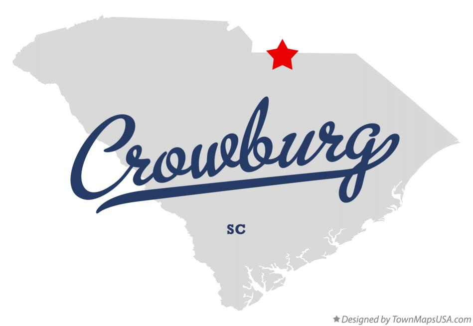 Map of Crowburg South Carolina SC