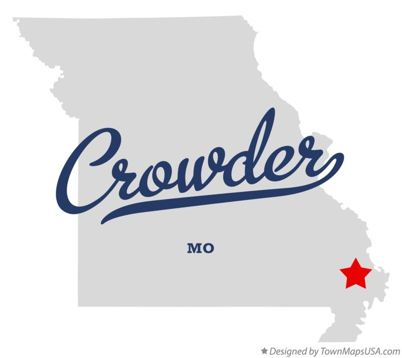 Map of Crowder Missouri MO