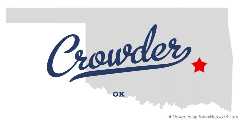Map of Crowder Oklahoma OK
