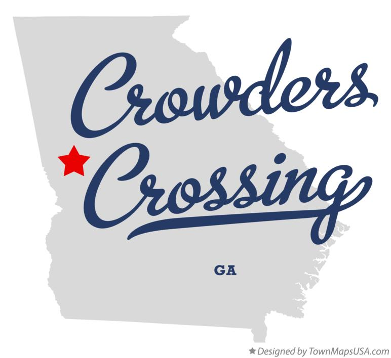 Map of Crowders Crossing Georgia GA