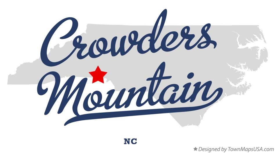 Map of Crowders Mountain North Carolina NC