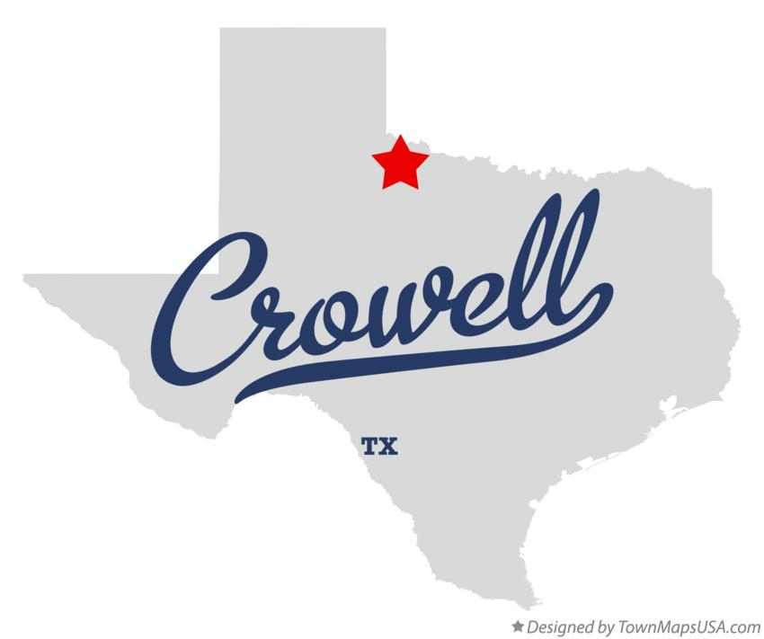 Map of Crowell Texas TX