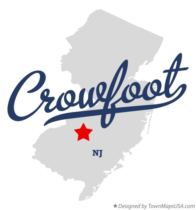 Map of Crowfoot New Jersey NJ