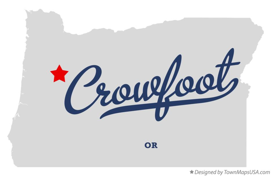 Map of Crowfoot Oregon OR