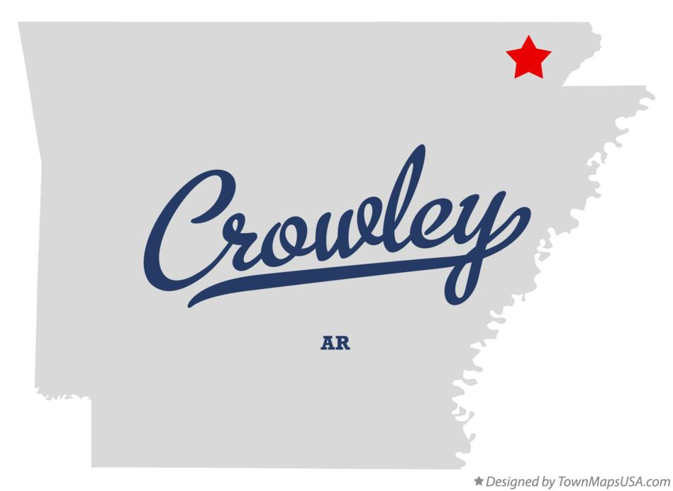 Map of Crowley Arkansas AR