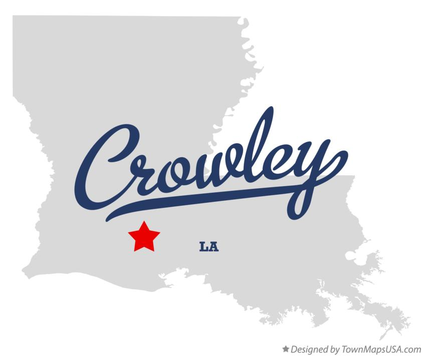 Map Of Crowley LA Louisiana
