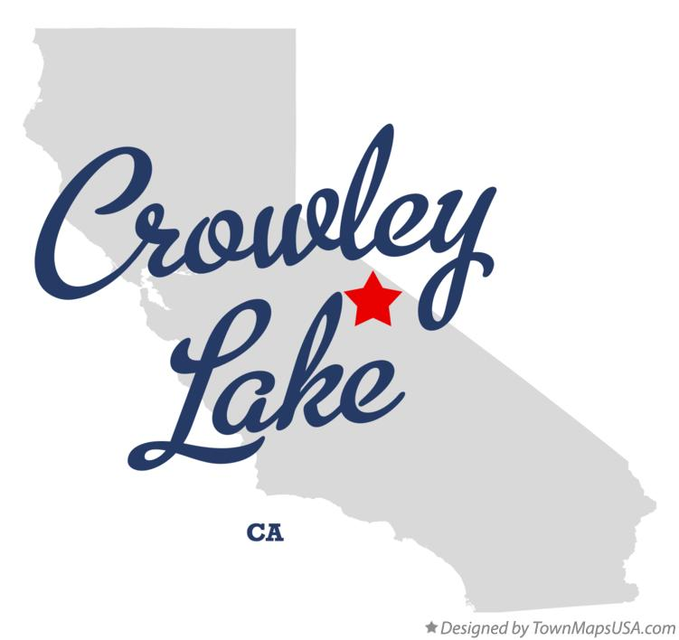 Map of Crowley Lake California CA