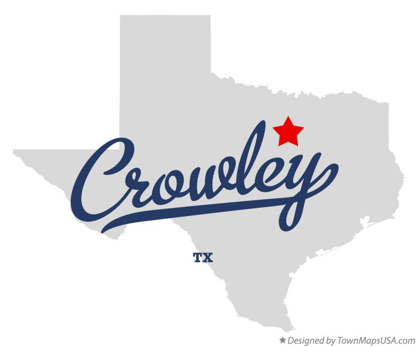 Map of Crowley Texas TX