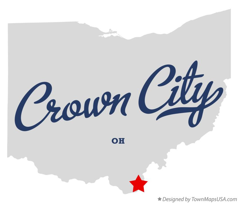 Map of Crown City Ohio OH