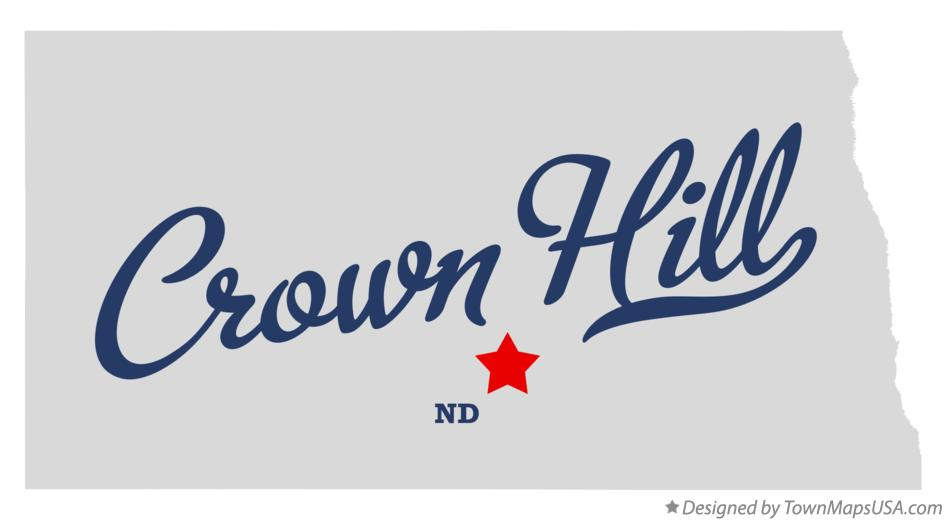 Map of Crown Hill North Dakota ND