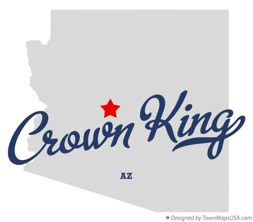 Map of Crown King Arizona AZ