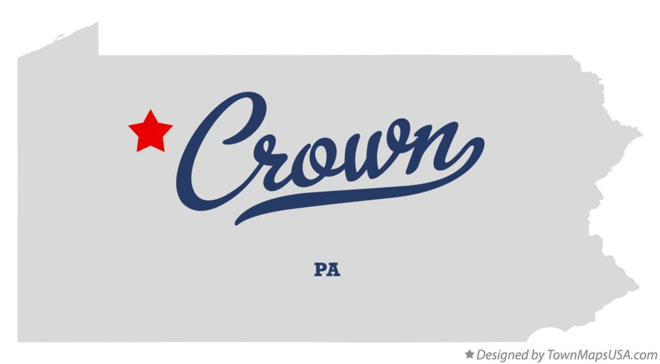 Map of Crown Pennsylvania PA