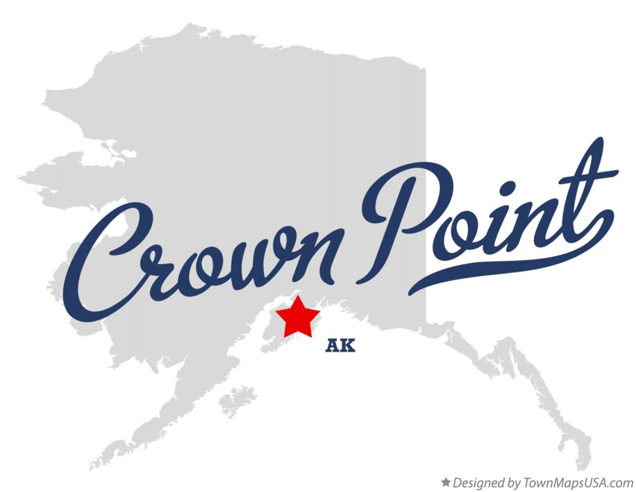 Map of Crown Point Alaska AK
