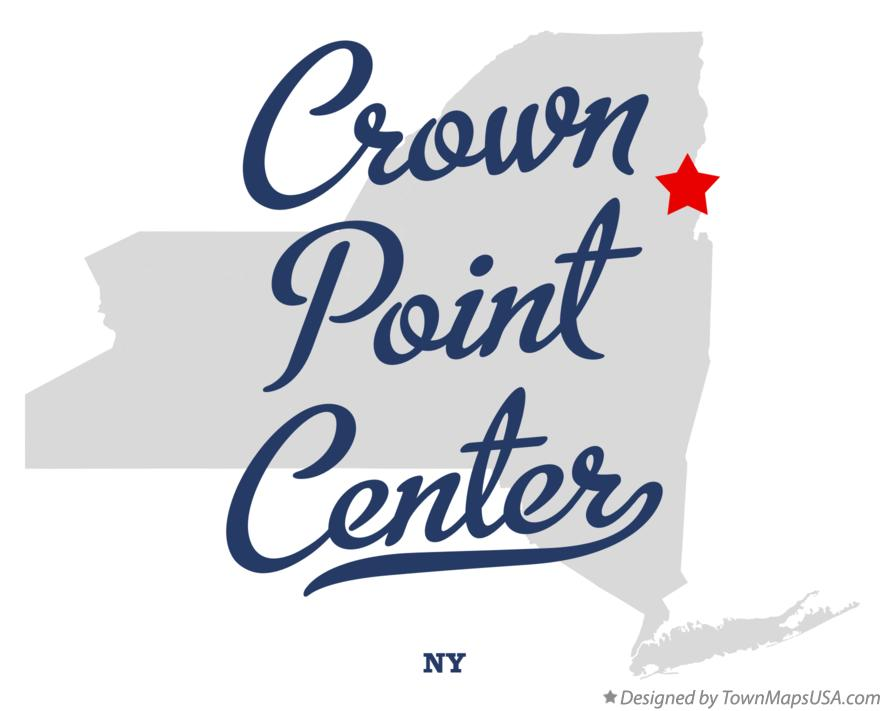 Map of Crown Point Center New York NY