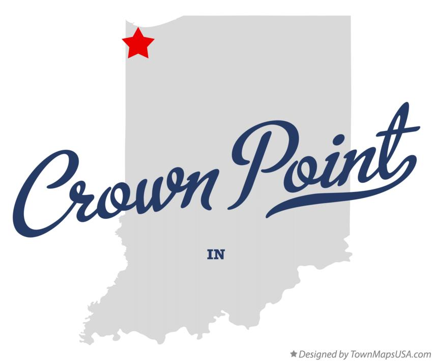 Map of Crown Point Indiana IN
