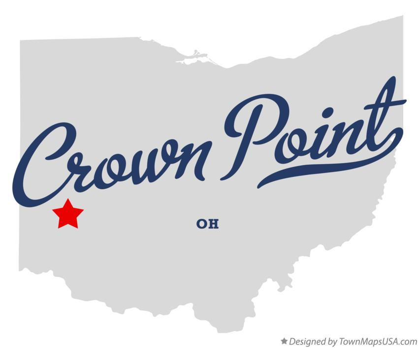Map of Crown Point Ohio OH