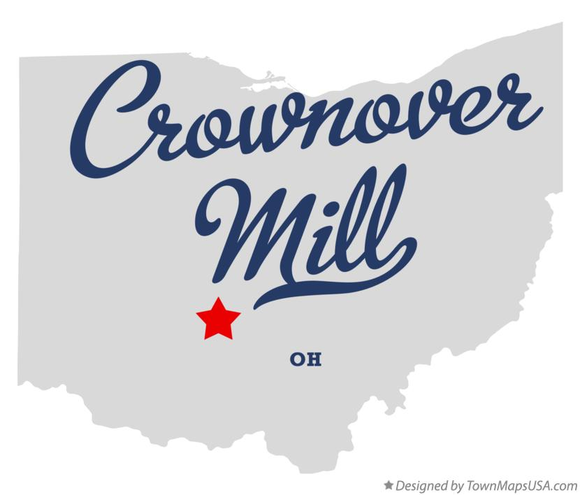 Map of Crownover Mill Ohio OH