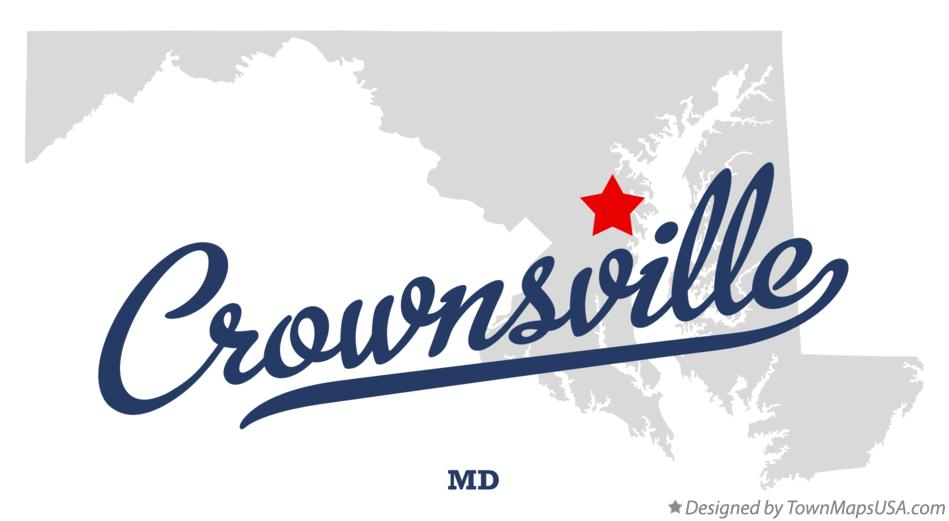 Map of Crownsville Maryland MD