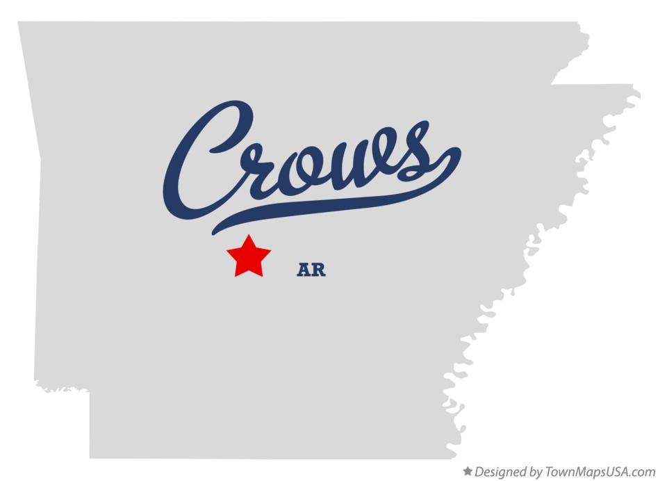 Map of Crows Arkansas AR