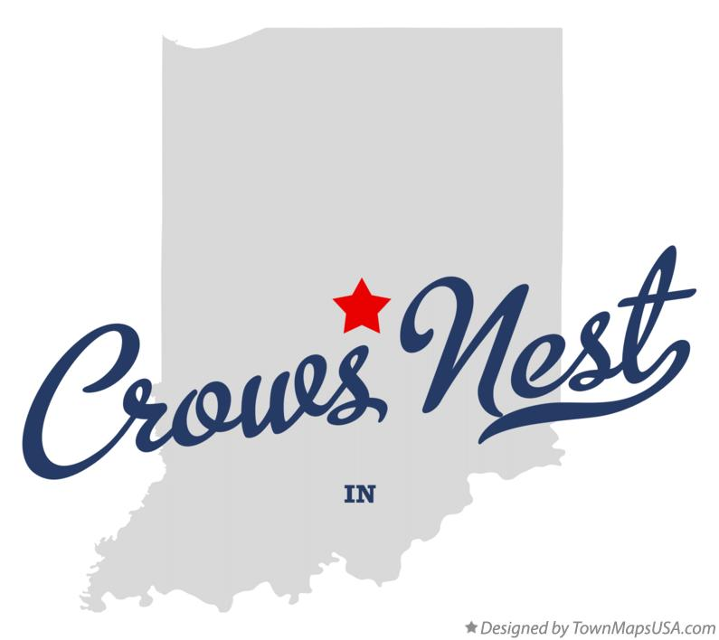 Map of Crows Nest Indiana IN