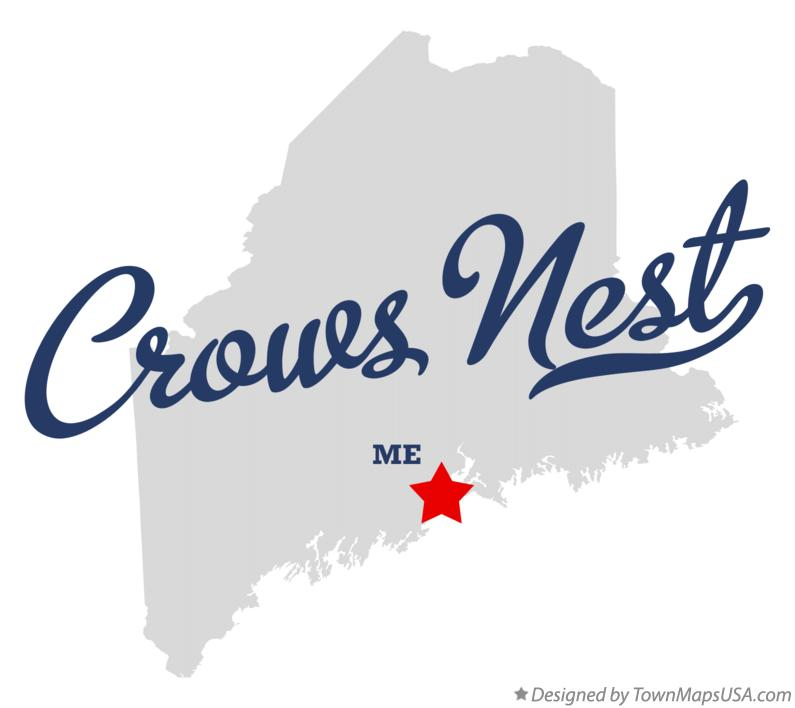 Map of Crows Nest Maine ME