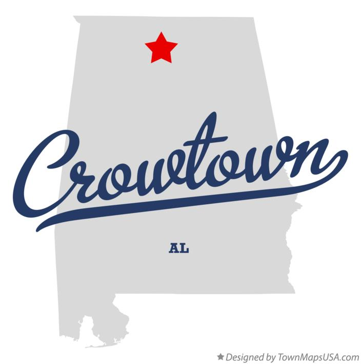 Map of Crowtown Alabama AL