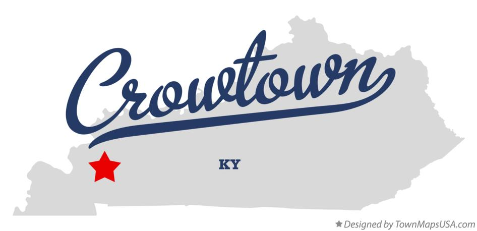 Map of Crowtown Kentucky KY