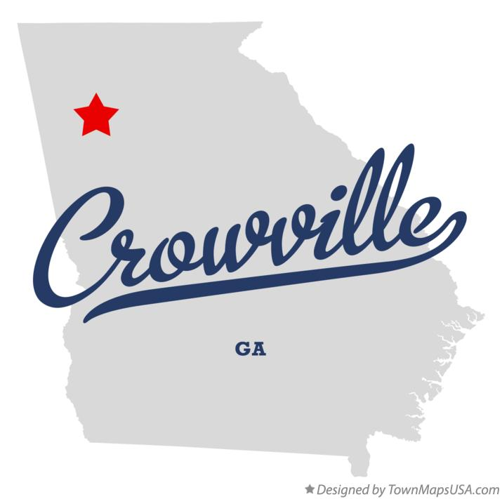 Map of Crowville Georgia GA