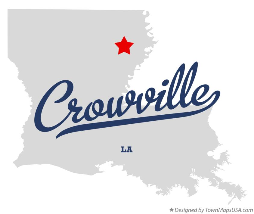 Map of Crowville Louisiana LA