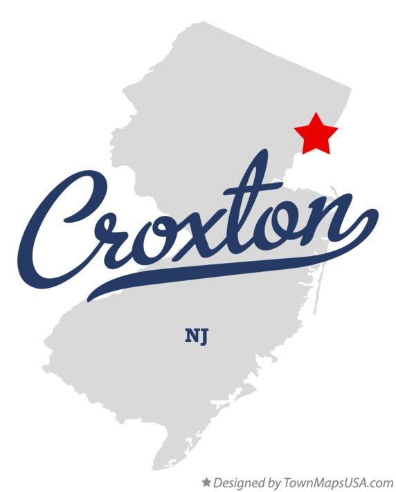 Map of Croxton New Jersey NJ
