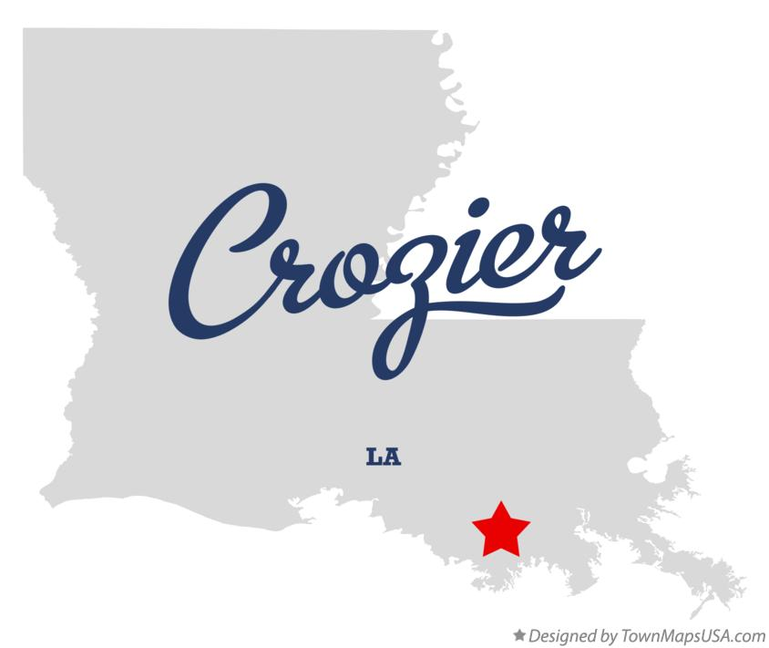 Map of Crozier Louisiana LA