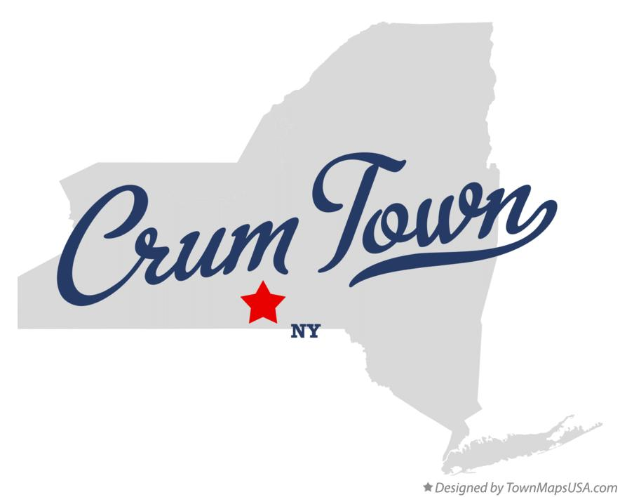 Map of Crum Town New York NY