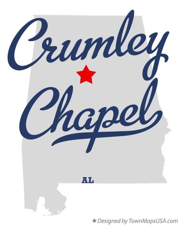 Map of Crumley Chapel Alabama AL