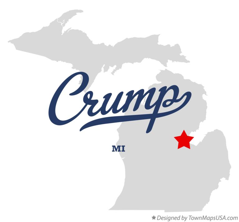 Map of Crump Michigan MI