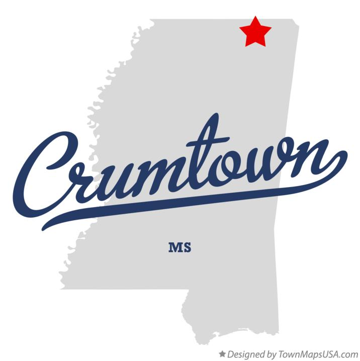 Map of Crumtown Mississippi MS