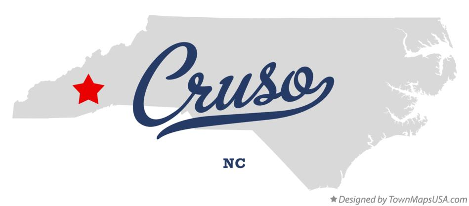 Map of Cruso North Carolina NC