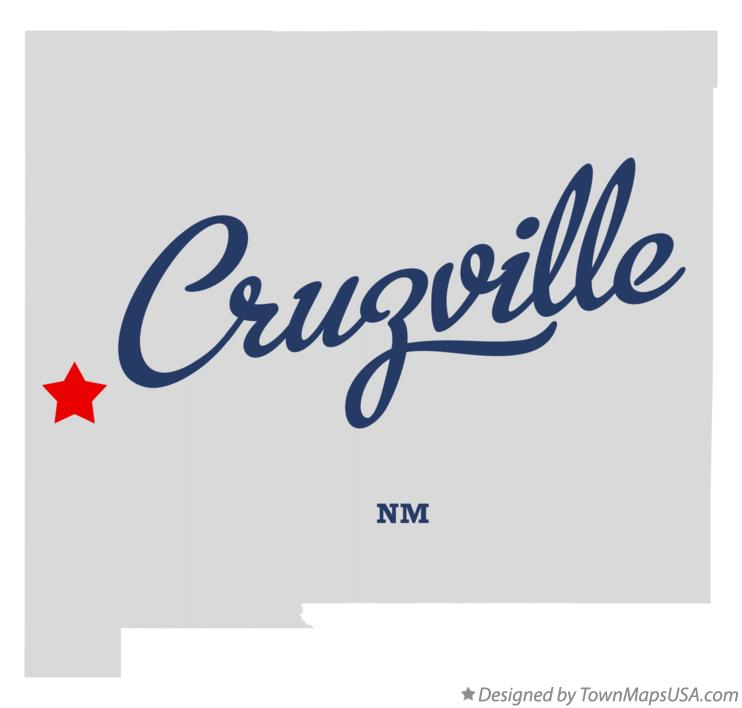 Map of Cruzville New Mexico NM