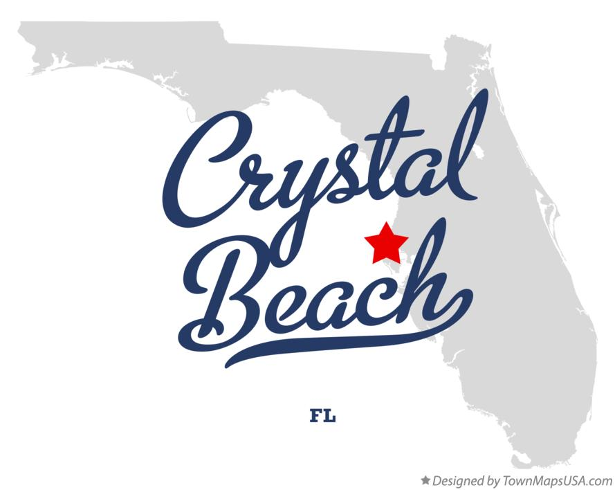 Map of Crystal Beach Florida FL