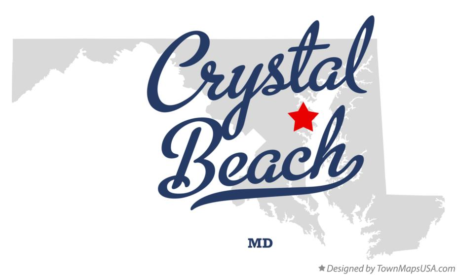 Map of Crystal Beach Maryland MD