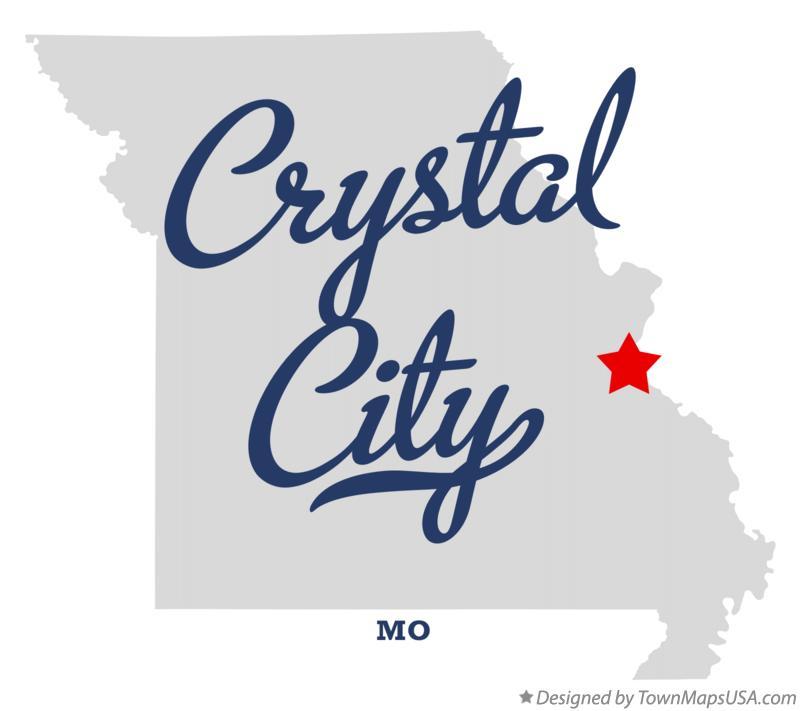 Map of Crystal City Missouri MO