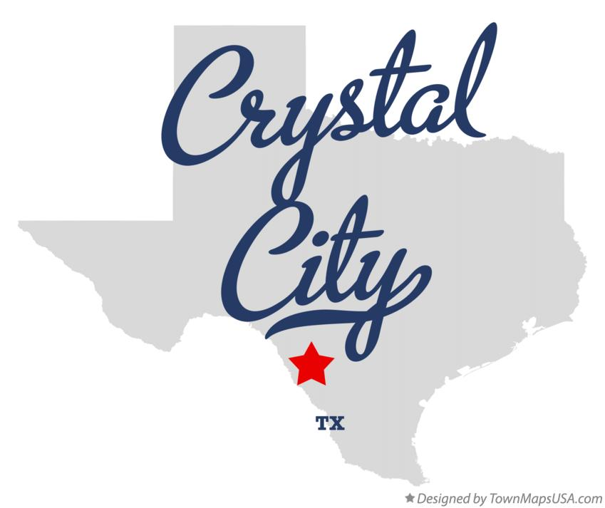 Map of Crystal City Texas TX