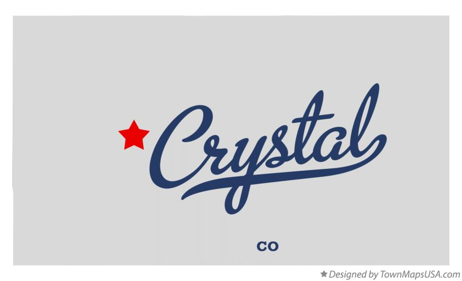 Crystal Colorado Map.Map Of Crystal Co Colorado