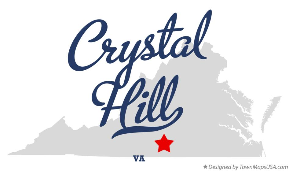 Map of Crystal Hill Virginia VA