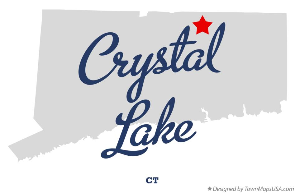 Map of Crystal Lake Connecticut CT